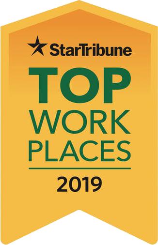2019 StarTribune Top Minnesota Workplaces Award