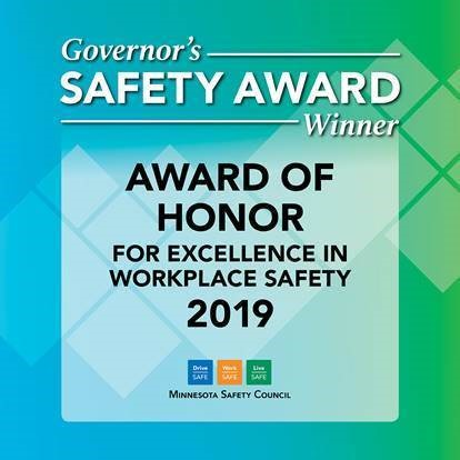 Minnesota Safety Council Governor's Safety Award